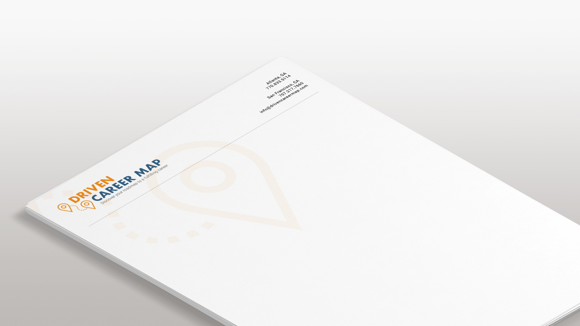 DRIVEN Letterhead and Logo Design